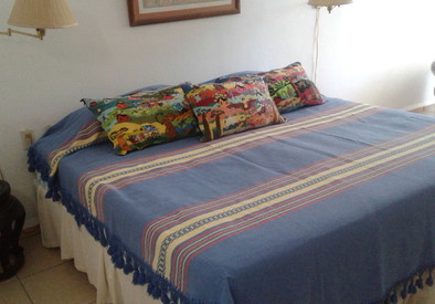 Master bedroom with king size bed and walk out to garden terrace