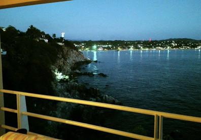 Lights on Zicatela at dusk - beautiful!