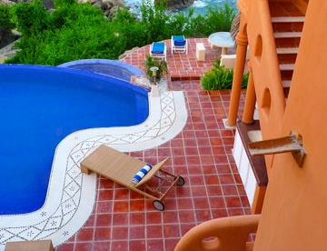 View of pool from 2nd storey