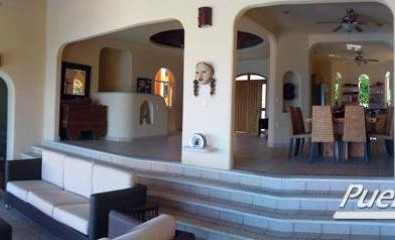 View of living dining and foyer