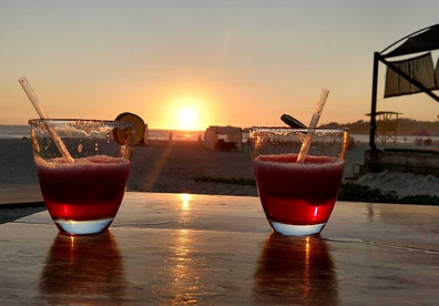 Drinks on Zicatela beach