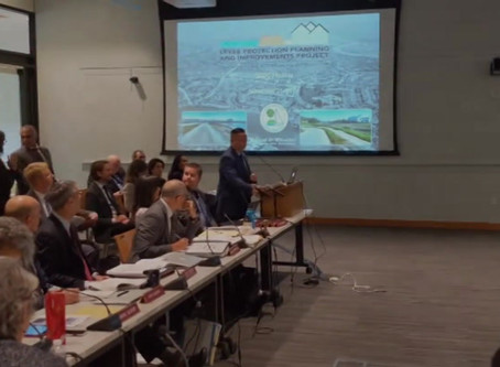 Sam advocating for the Levee Improvement Project at the BCDC Commission