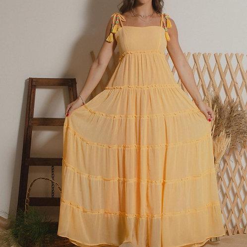 Vestido Rachel - Amarelo