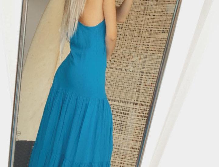 Vestido caraíva - Azul claro  - Médio