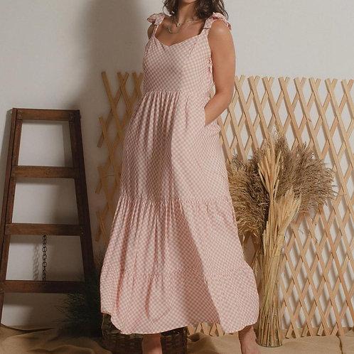 Vestido Lisa - Rosa