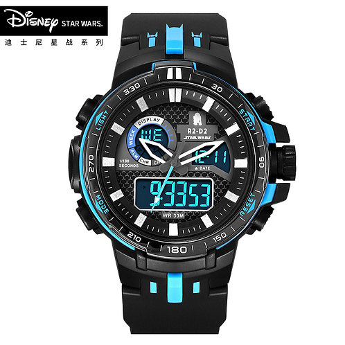 Disney Star Wars Kids Sport Watch Waterproof Wristwatch