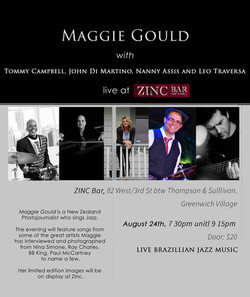 Maggie Gould at Zinc bar in NYC