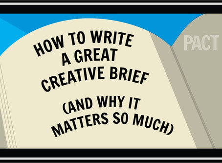 Writing a great creative brief