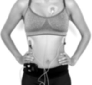Sportive woman wearing a heart monitor_e