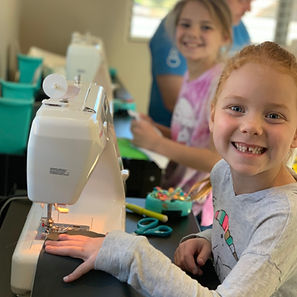teach a child to sew girls sewing