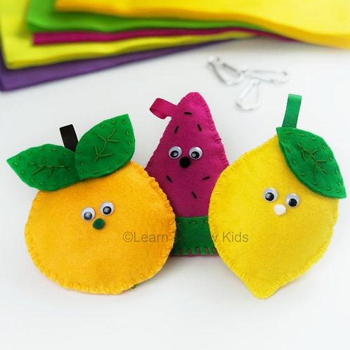 Fruit Fun Felt Handsewing Pattern Set