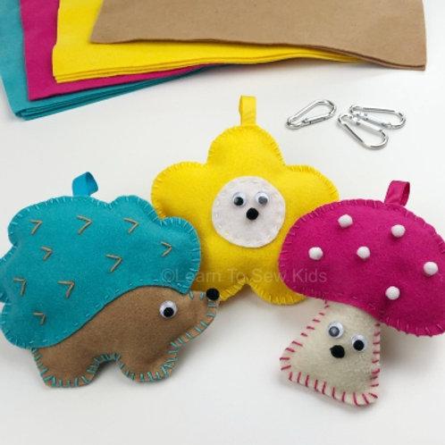 Hedgehog Felt Handsewing Project Set