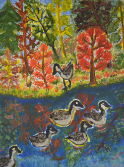 Geese at the Pond