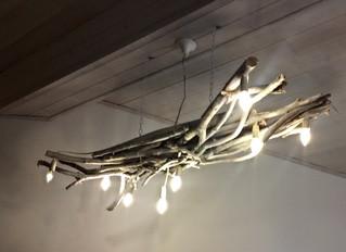 מנורה מדהימה  מענפים גזומים