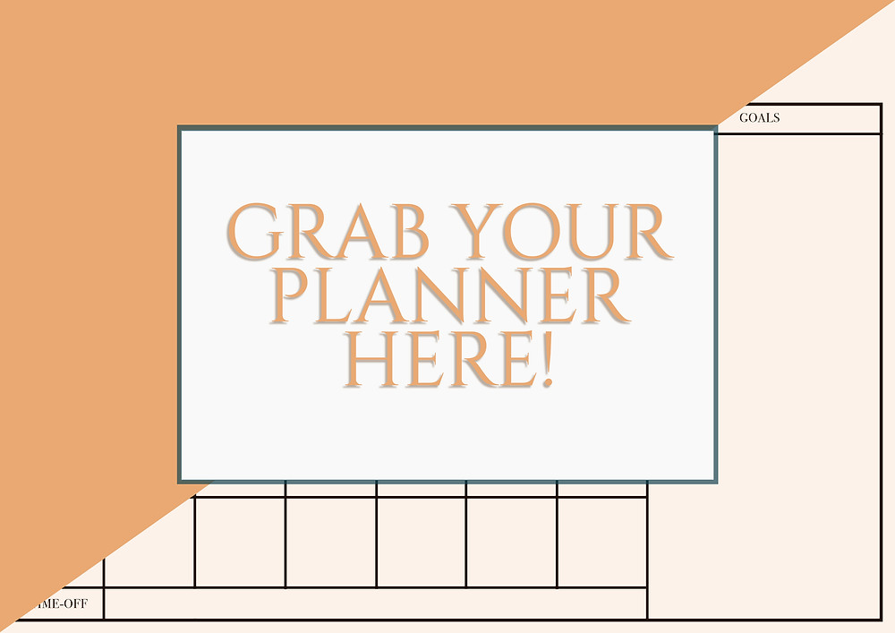 A monthly planner to help you lay out and get a clear overview of your SoMe content.