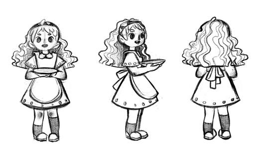 Ophelia Character Turn-around