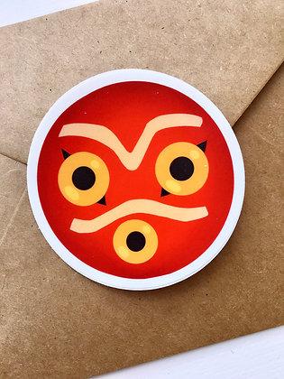 Princess Mononoke Mask | Sticker