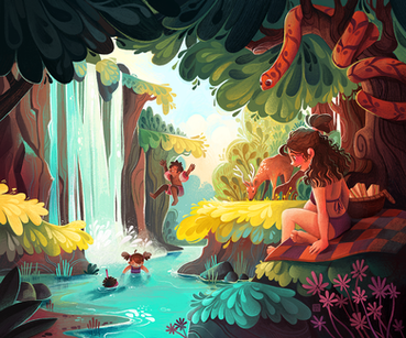 Swimming Day in the Forest