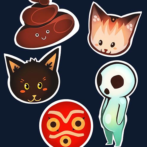 Poop & Ghibli Stickers