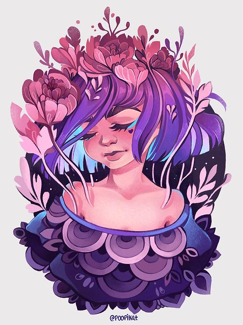 Flower Girl | Sticker OR Print