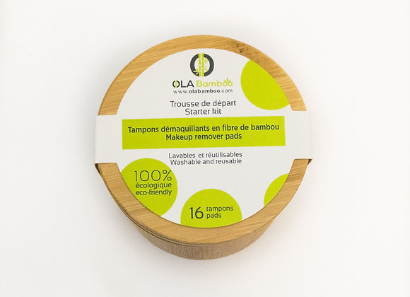 Bamboo Make Up Remover Pads with Case