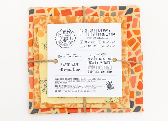 Beeswax Food Wraps (Variety Pack)