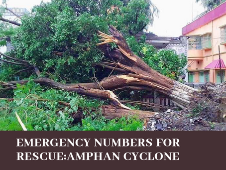 The helpline numbers you need to get in touch with, incase of emergency- cyclone Amphan