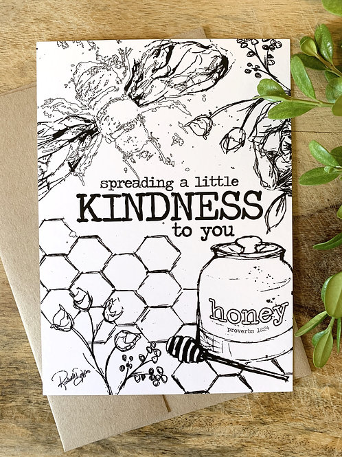 Spread Kindness Coloring Greeting Card