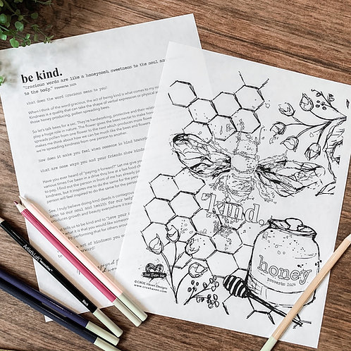 Be Kind Coloring Devotional
