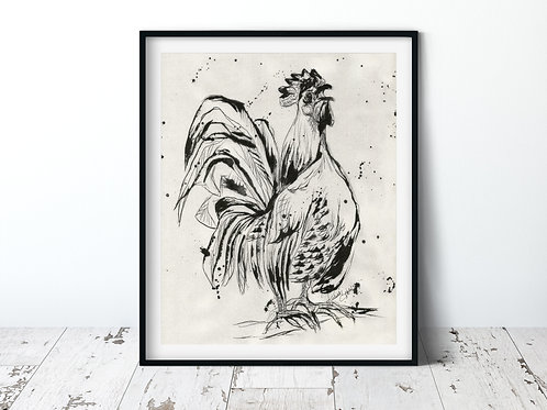 Rooster | 11x14 Unframed Print