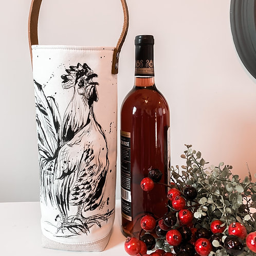 Rooster Wine tote