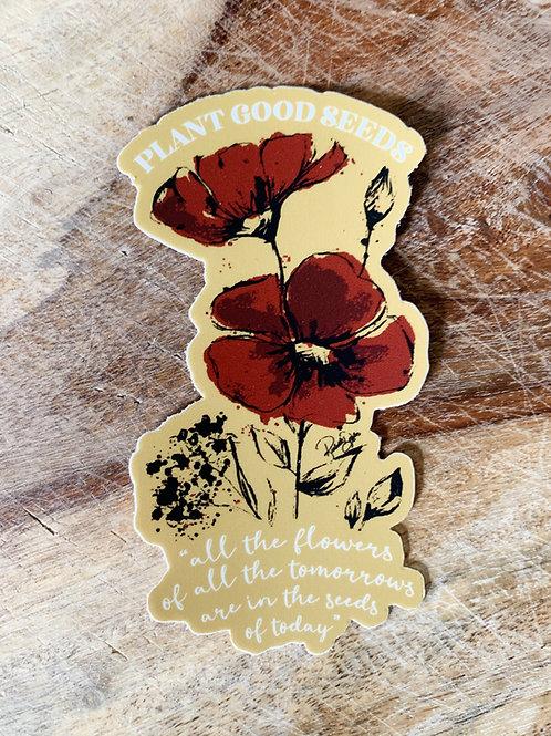 Plant Good Seeds Sticker