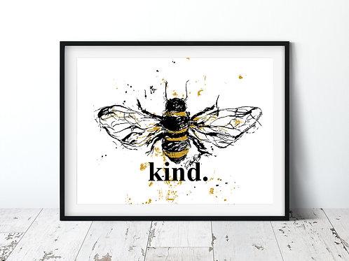 Bee Kind 11x14 | Unframed Print
