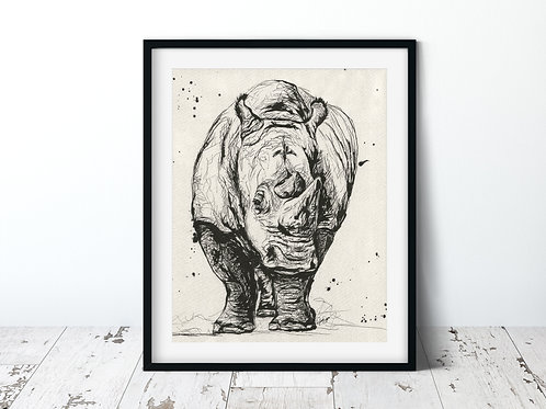 Rhino | Unframed Print