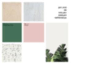 לוח השראה וחומרים לפרוייקט משרדים, אסנת ברק עיצוב פני