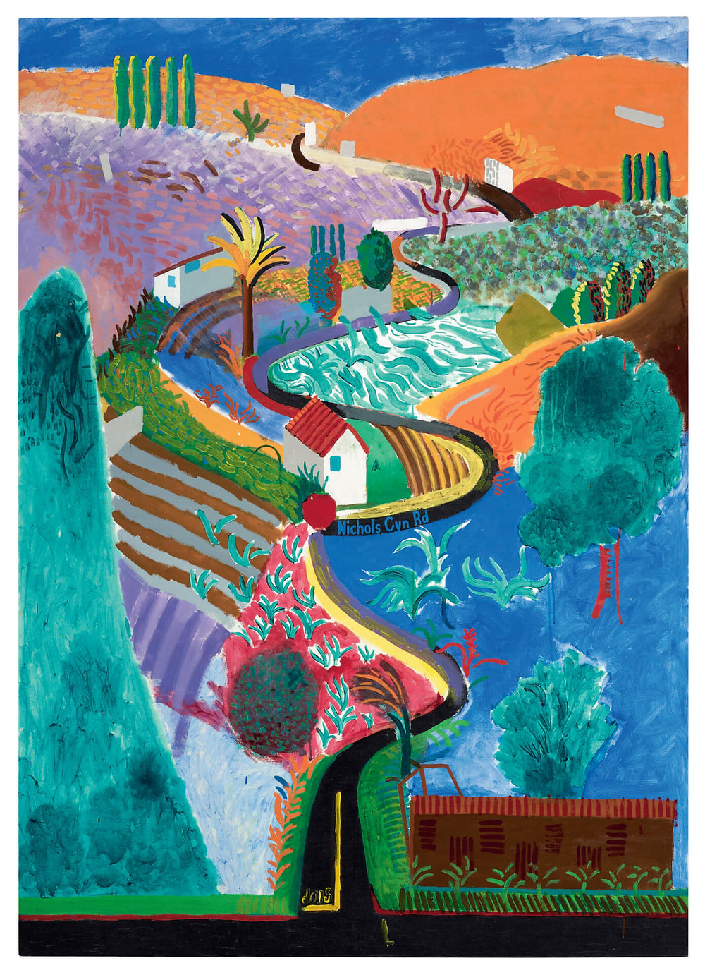 David Hockney, Nichols Canyon (1980). © David Hockney