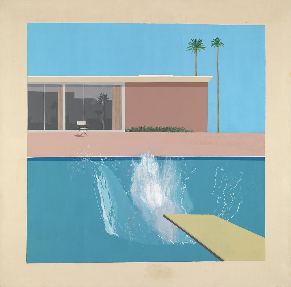 David Hockney, A Bigger Splash 1967, Acrylic on canvas, © David Hockney