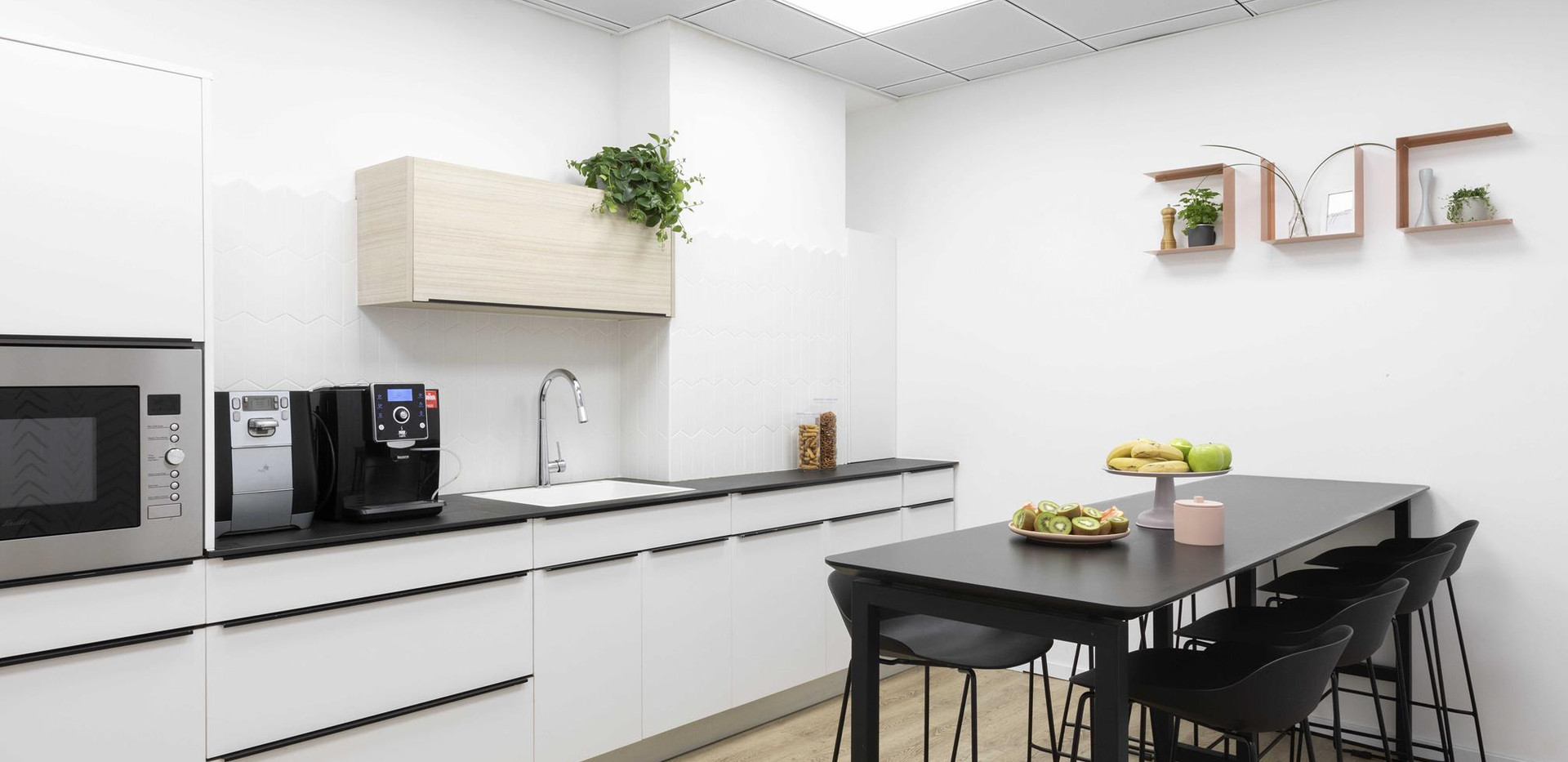 מטבח, משרדי ZER4U, עיצוב אסנת ברק