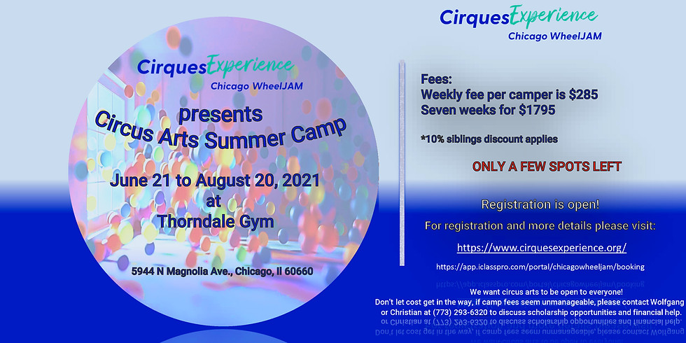 Circus Arts Summer Camp 2021