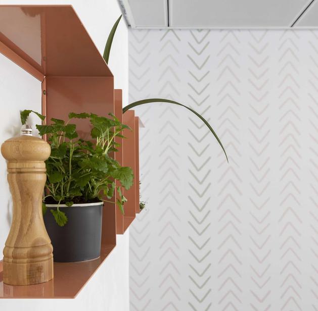 טיפול בקיר, משרדי ZER4U, עיצוב אסנת ברק