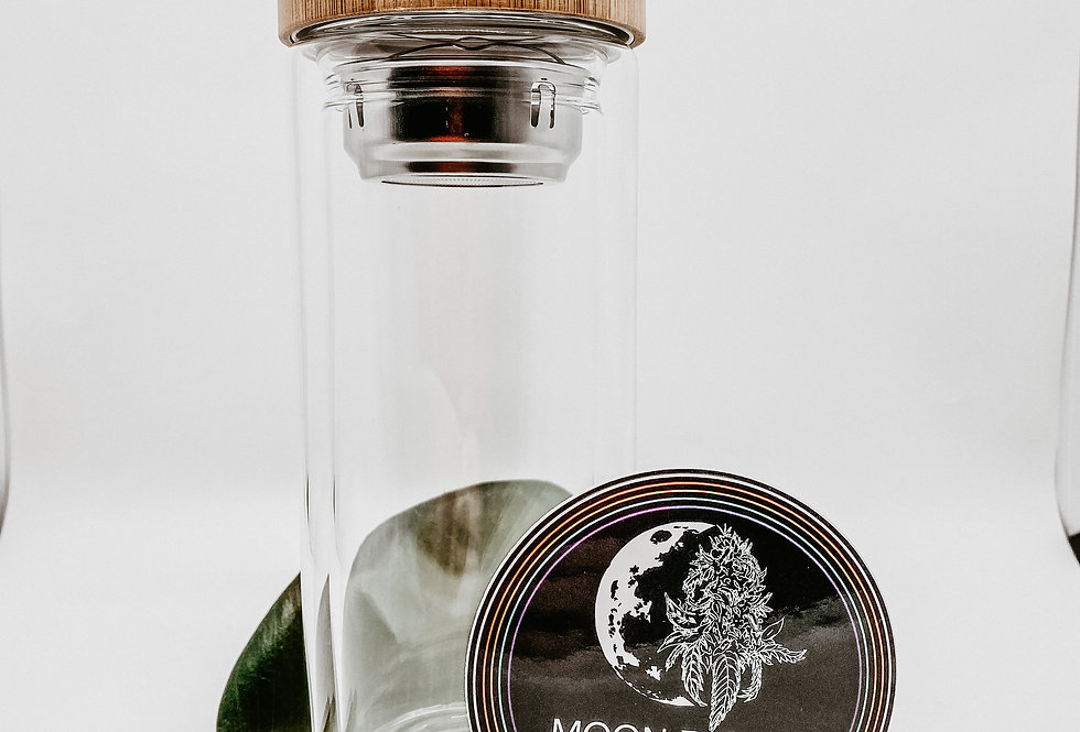 Glass Water Bottle w/ Tea Infuser