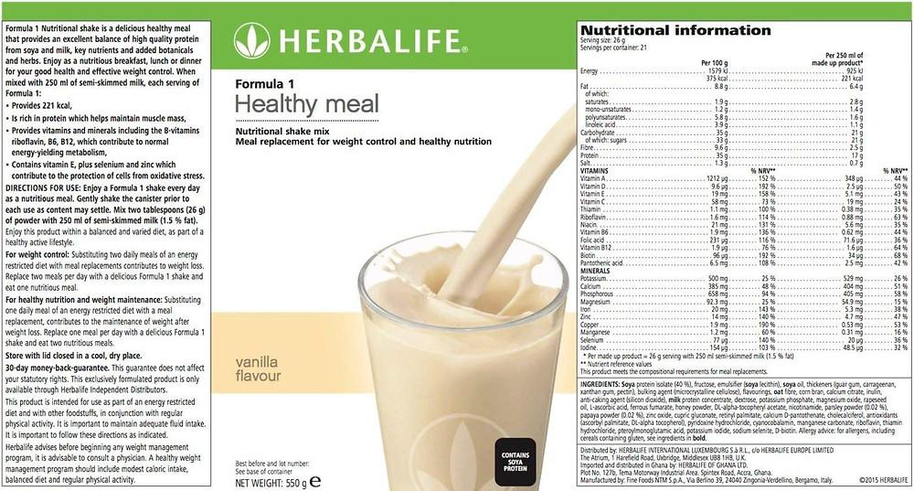 Herbal Life Formula 1 Nutrition