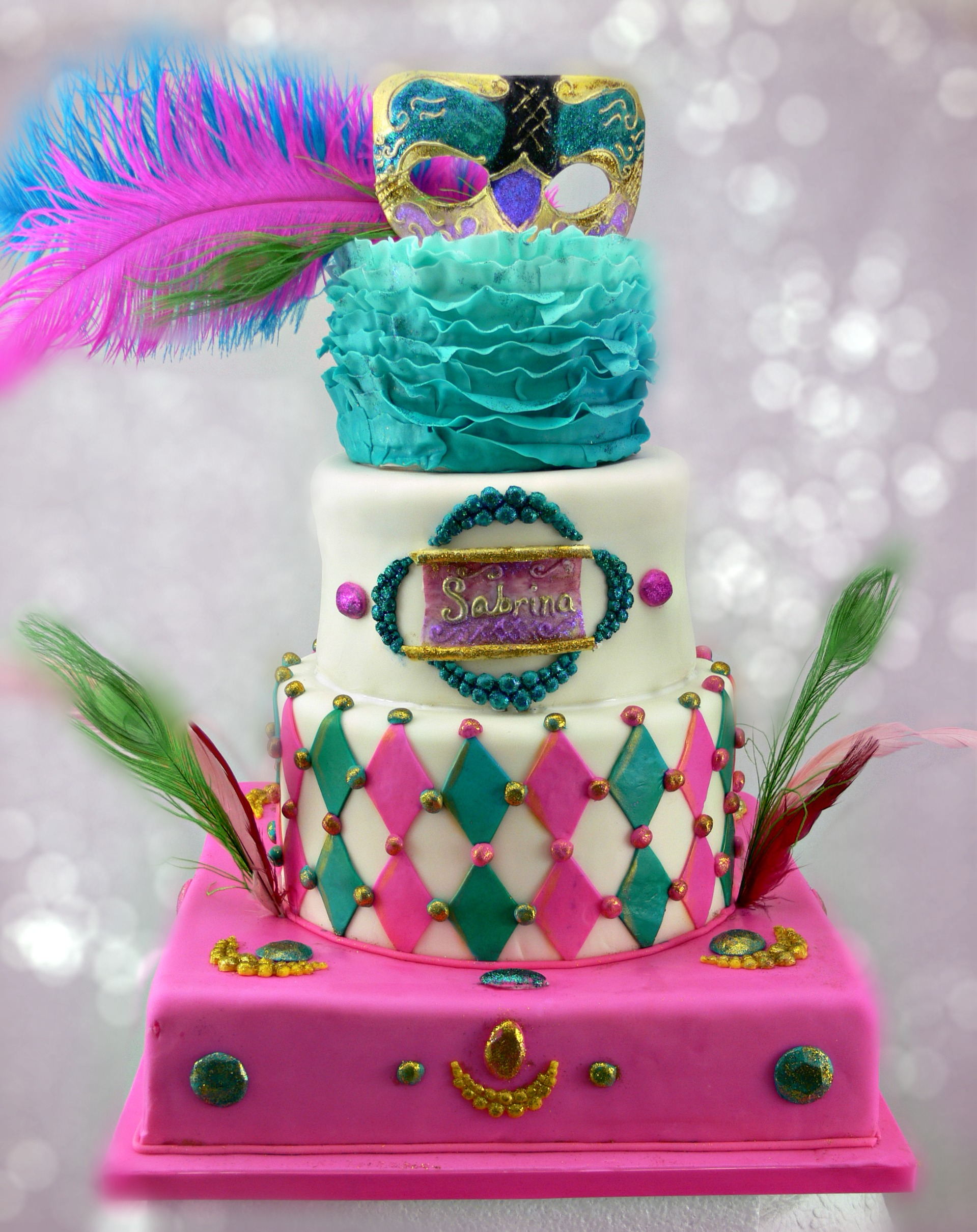 Sabrina pink and teal masquerade.jpg