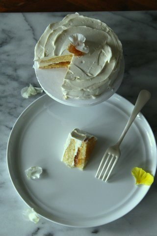 Vanilla cake with Caramelized Pineapple filling.jpg