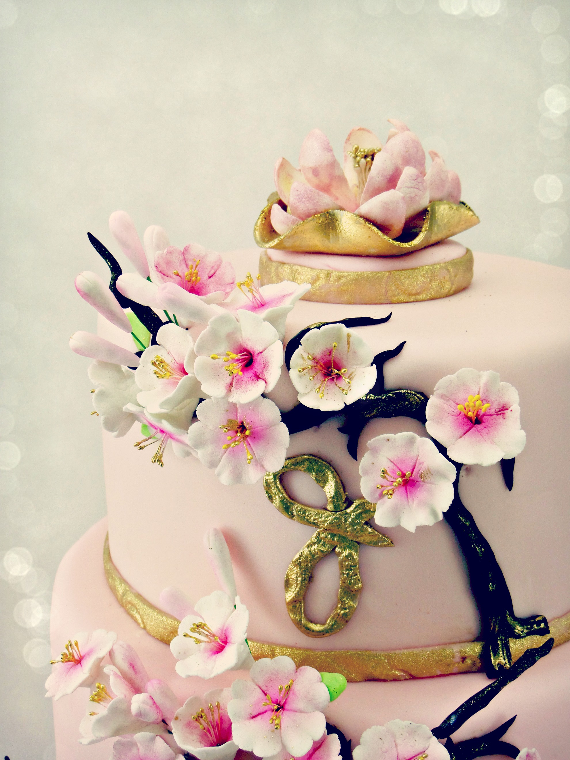 Cherry Blossoms Cake top tier detail.jpg
