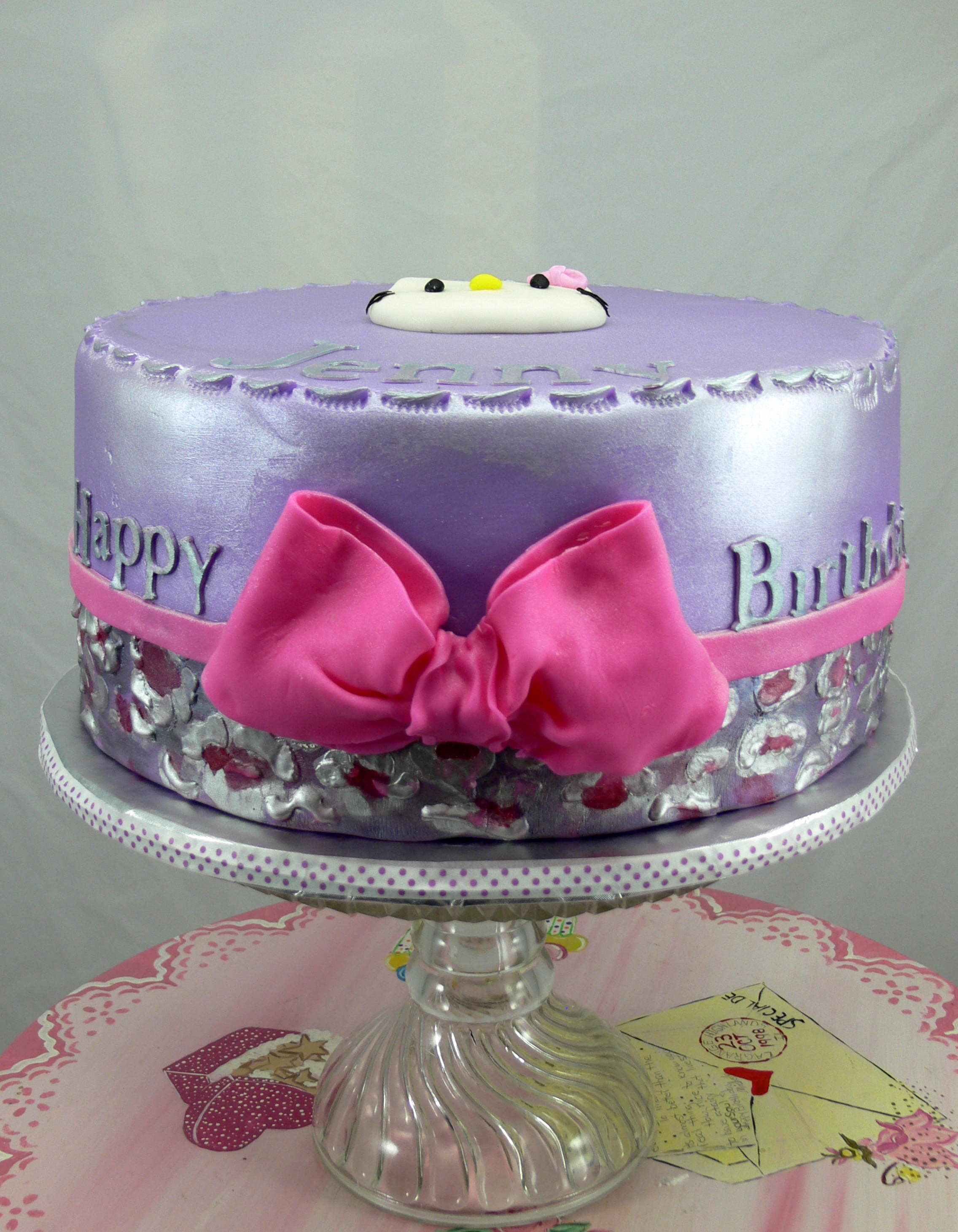 Hello Kitty lavender with pink bow.jpg