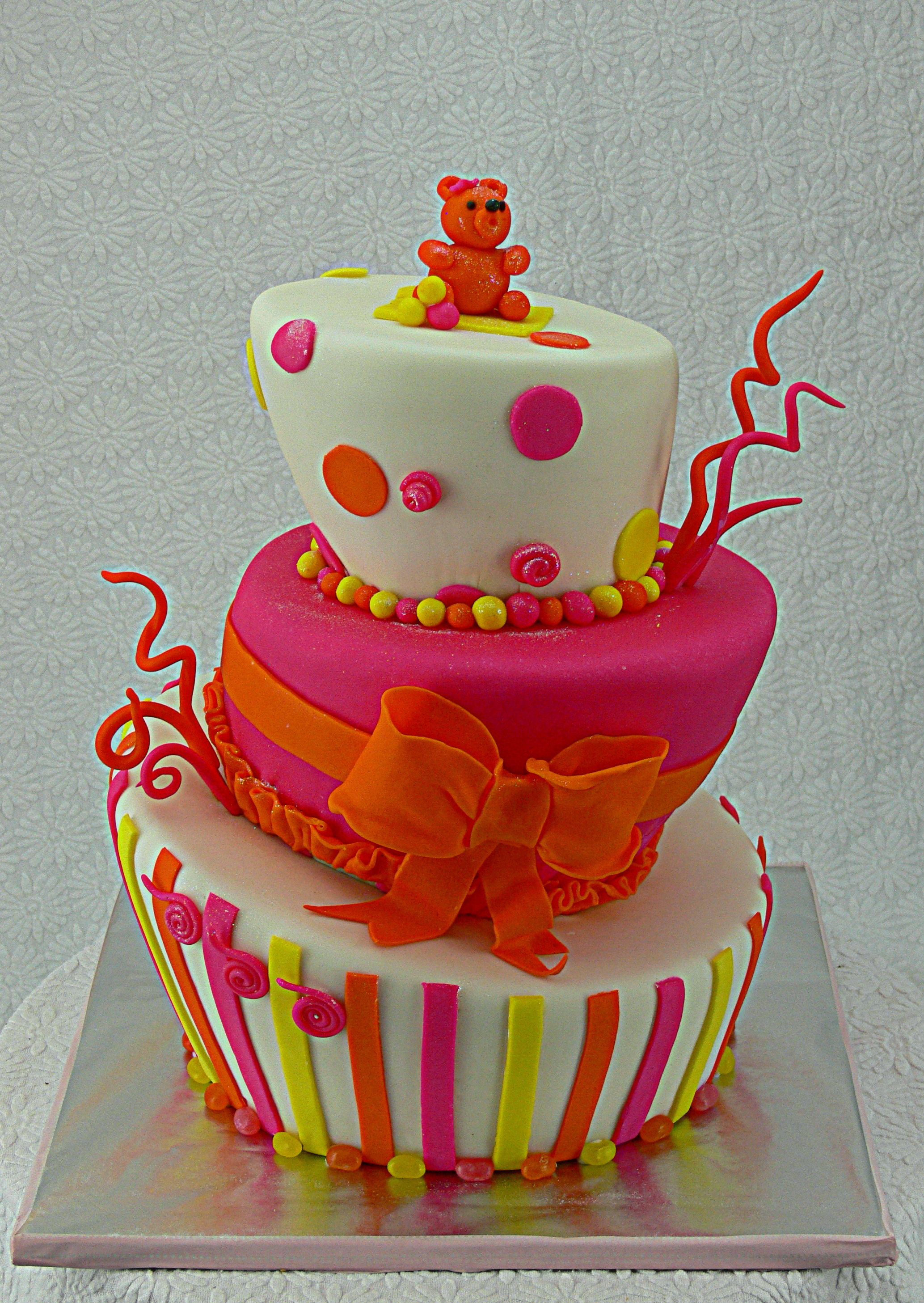 Neon Teddy Bear Birthday Cake.jpg