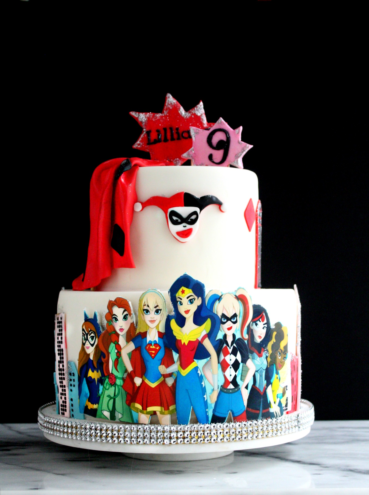 dc superhero girls harley quinn birthday cake lilliana e