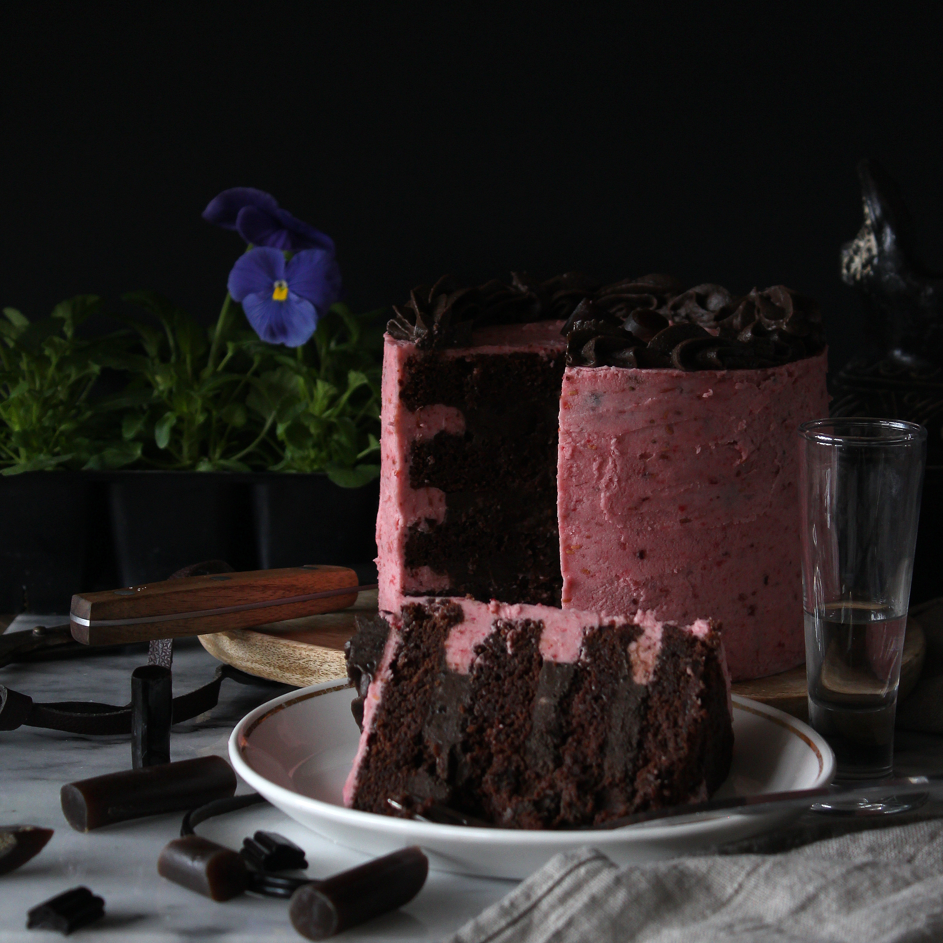 Chocolate, Licorice, Raspberry, Cardemom Cake.jpg