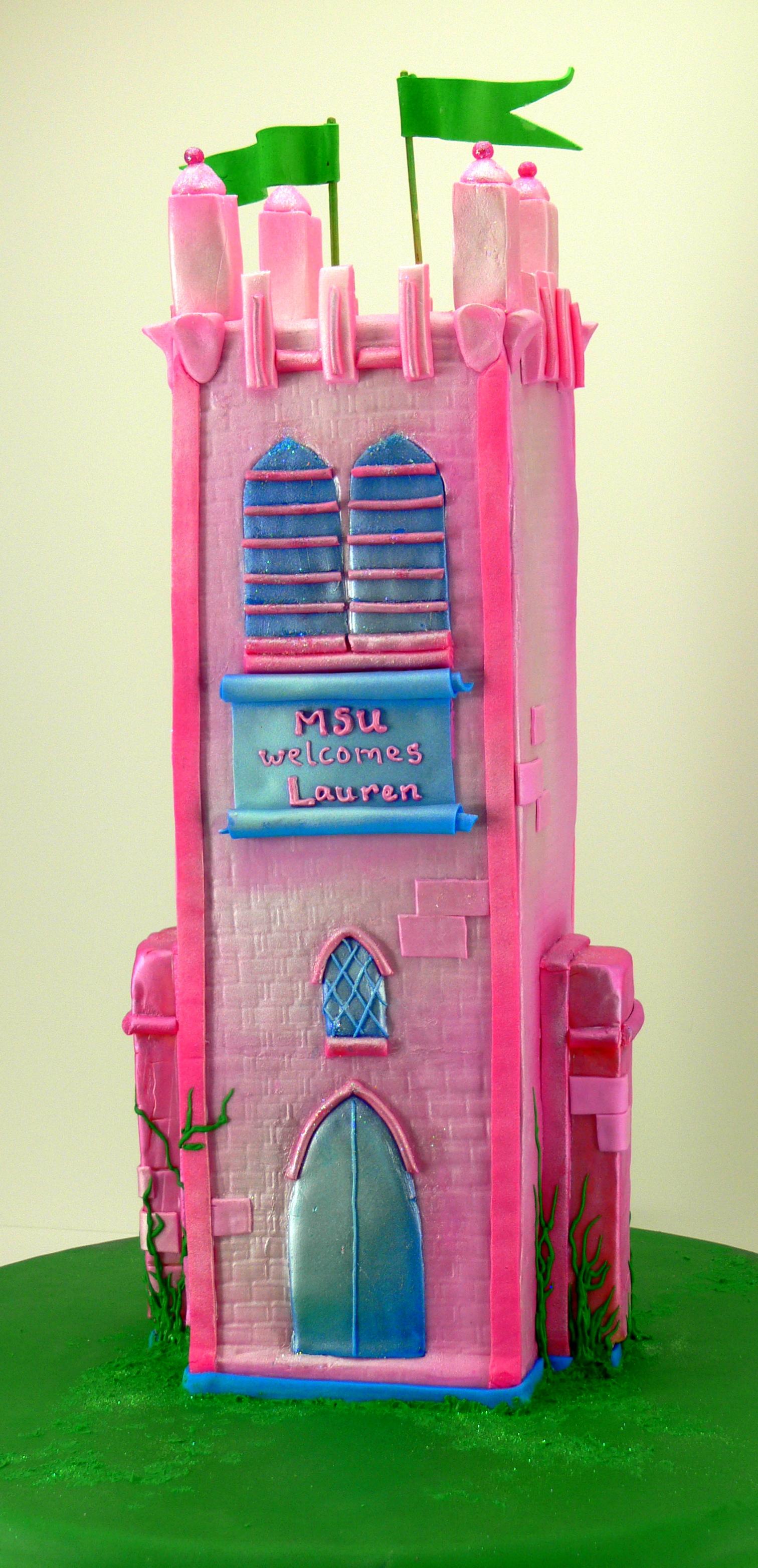 MSU Clock tower graduation cake.jpg